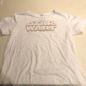 Girls white Star Wars t-shirt size 14